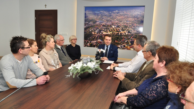Konferencja prasowa Prezydenta Marka Materka